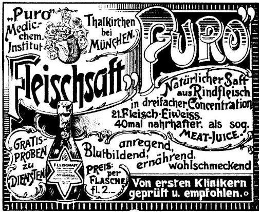 09_Wiener Caracaturen_18_1898_Nr21_p11_Kraeftigungsmittel_Fleischsaft-Puro_Vergleichende-Werbung