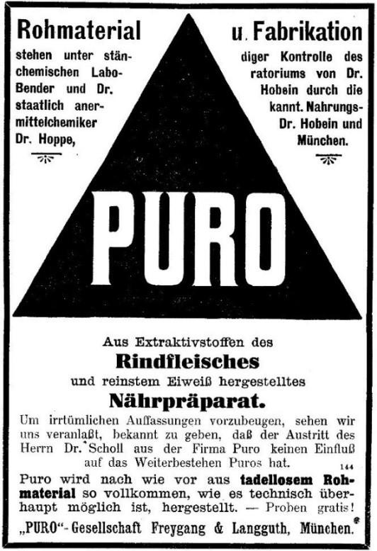 30_Wiener Medizinische Wochenschrift_60_1910_Sp490_Kraeftigungsmittel_Fleischpraeparate_Puro