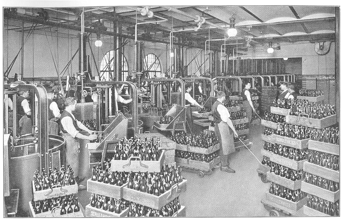 05_Schultheiss_1910_p055_Bier_Flaschenbier_Nahrungsmittelproduktion_Produktionsstaette