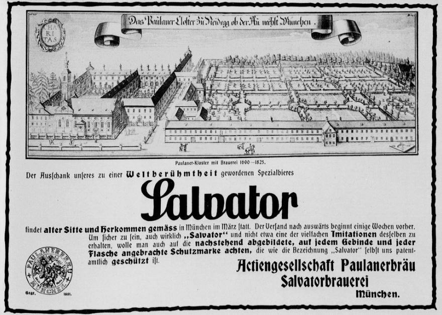06_Der Welt-Spiegel_1914_02_01_p5_Bier_Salvator_Paulaner_Muenchen_Produktionsstaette_Kloster