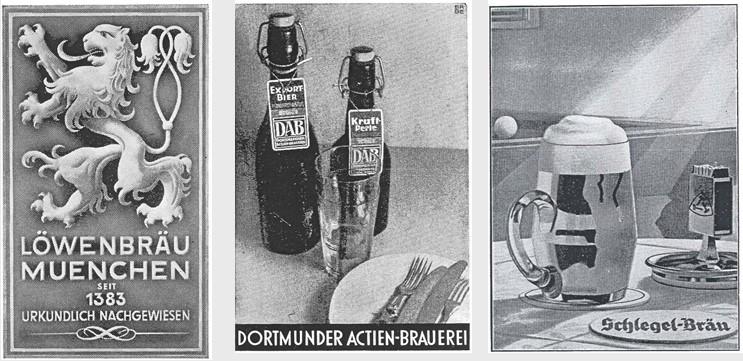 08_Scheck_1935_p26-28_Bier_Plakatwerbung_DAB_Schlegel_Loewenbraeu_Werbung