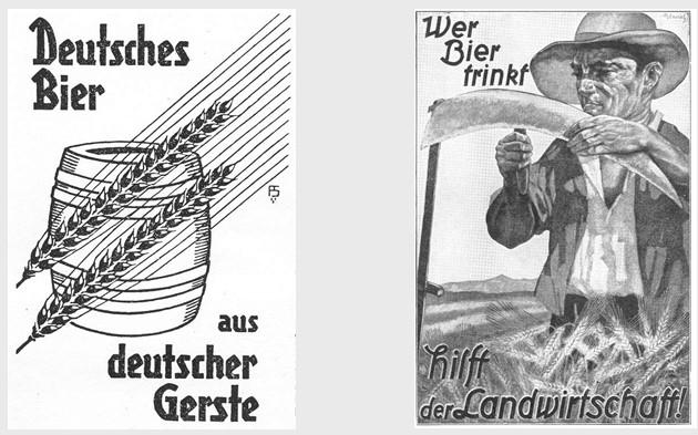 11_Die Ernaehrungswirtschaft_3_1929_p423_Scheck_1935_p49_Bier_Gemeinschaftswerbung_Plakatwerbung_Nationale-Werbung