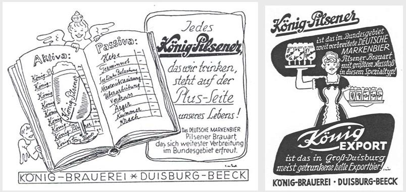17_Chronik_1958_p54_Bier_Werbung_Export_Pils_Koenig_Duisburg