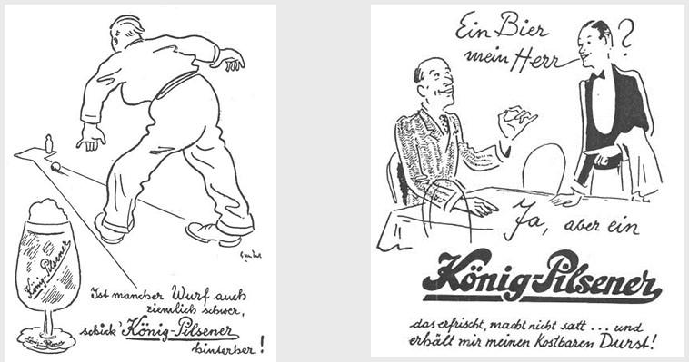 19_Chronik_1958_p55_Bier_Werbung_Kegeln_Pils_Koenig_Kellner
