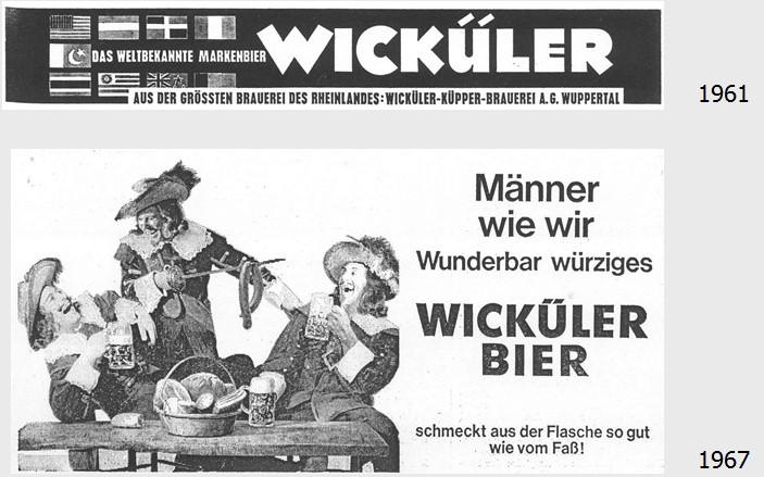 20_Ernaehrungswirtschaft_08_1961_p217_Der Volkswirt_21_1967_p2705_Bier_Werbung_Lebensstil_Musketiere_Wickueler