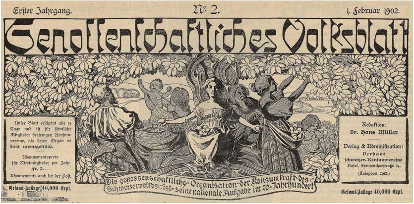03_Genossenschaftliches Volksblatt_01_1902_Nr02_p1_Titelblatt_Konsumgenossenschaften_Schweiz