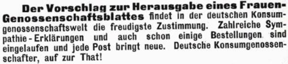 05_Wochen-Bericht der Grosseinkaufs-Gesellschaft Deutscher Consumvereine_08_1901_p773_Frauengenossenschaftsblatt_Konsumgenossenschaften