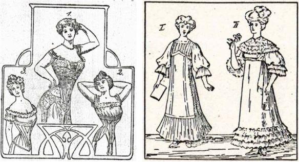 13_Frauen-Genossenschaftsblatt_02_1903_p133_Ebd_03_1904_p109_Reformkleidung_Frauenkleidung