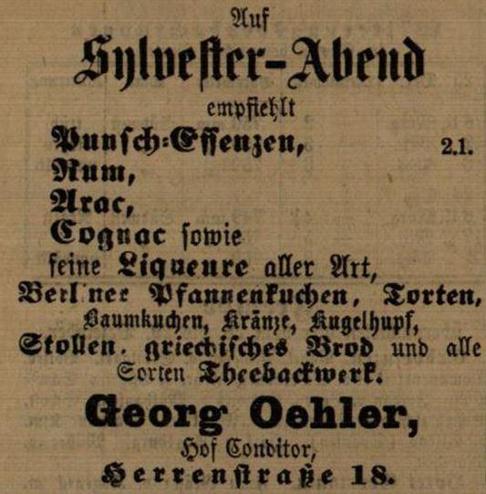 17_Karlsruher Tagblatt_1888_12_30_Nr357_p5285_Silvester_Berliner_Baumkuchen_Konditor