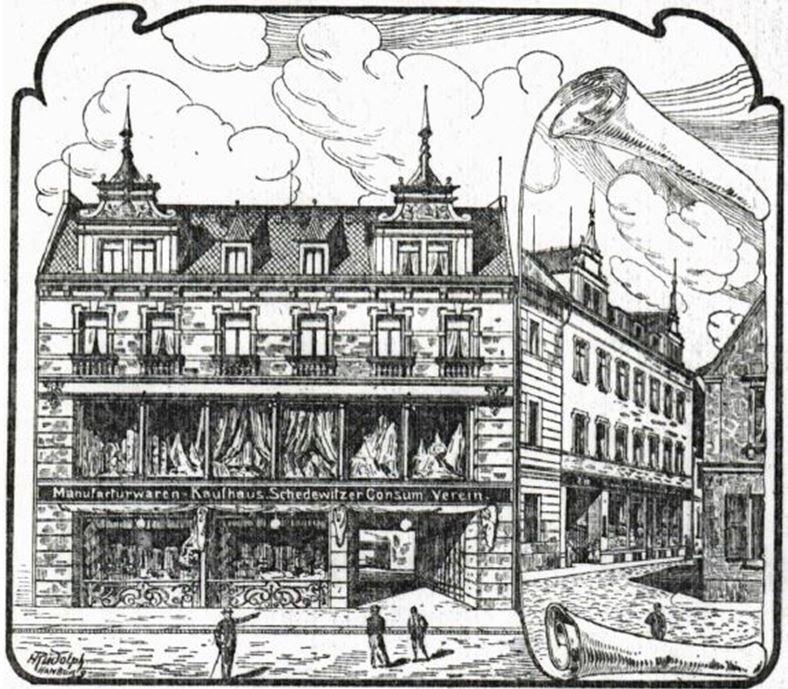 19_Frauen-Genossenschaftsblatt_01_1902_p125_Konsumverein_Schedewitz_Kaufhaus_Schaufenster_Verkaufsstaette