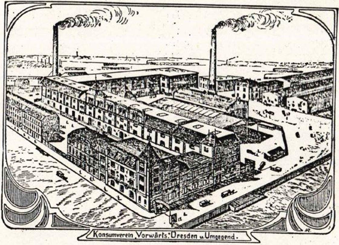 21_Frauen-Genossenschaftsblatt_03_1904_p021_Konsumgenossenschaft_Dresden_Vorwaerts_Großhandel_Zentrale