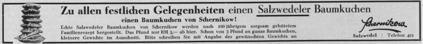 24_Sport im Bild_40_1934_p639_Versandgeschäft_Baumkuchen_Schernikow_Salzwedel