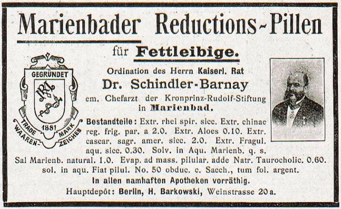 03_Jugend_03_1898_p114_Schlankheitspraeparate_Abfuehrmittel_Marienbader-Reductionspillen_Schindler-Barnay_Geheimmittel