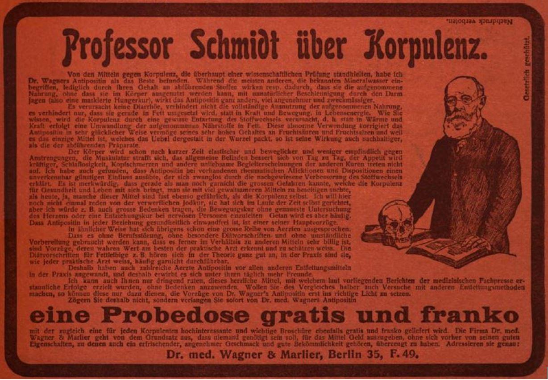 15_Die Woche_08_1906_H30_Umschlags_pIII_Schlankheitspraeparate_Antipositin_Wagner-Marlier_Geheimmittel_Totenschaedel