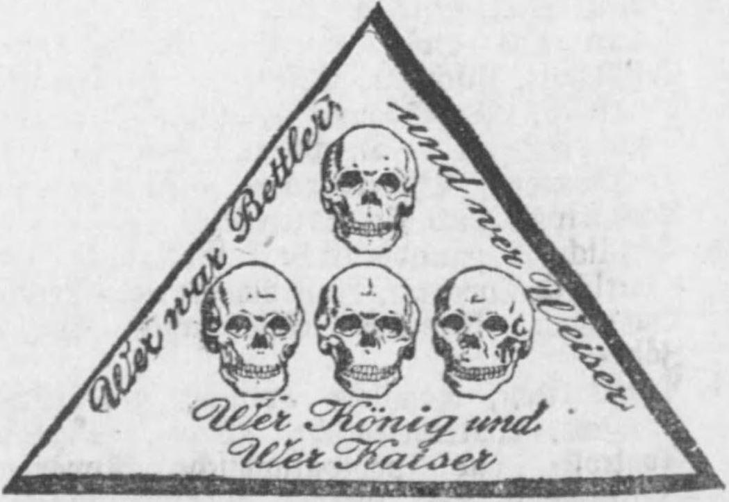 17_Deutscher Reichsanzeiger_1907_03_19_Nr070_p18_Wagner-Marlier_Warenzeichen_Bildzeichen_Totenschaedel