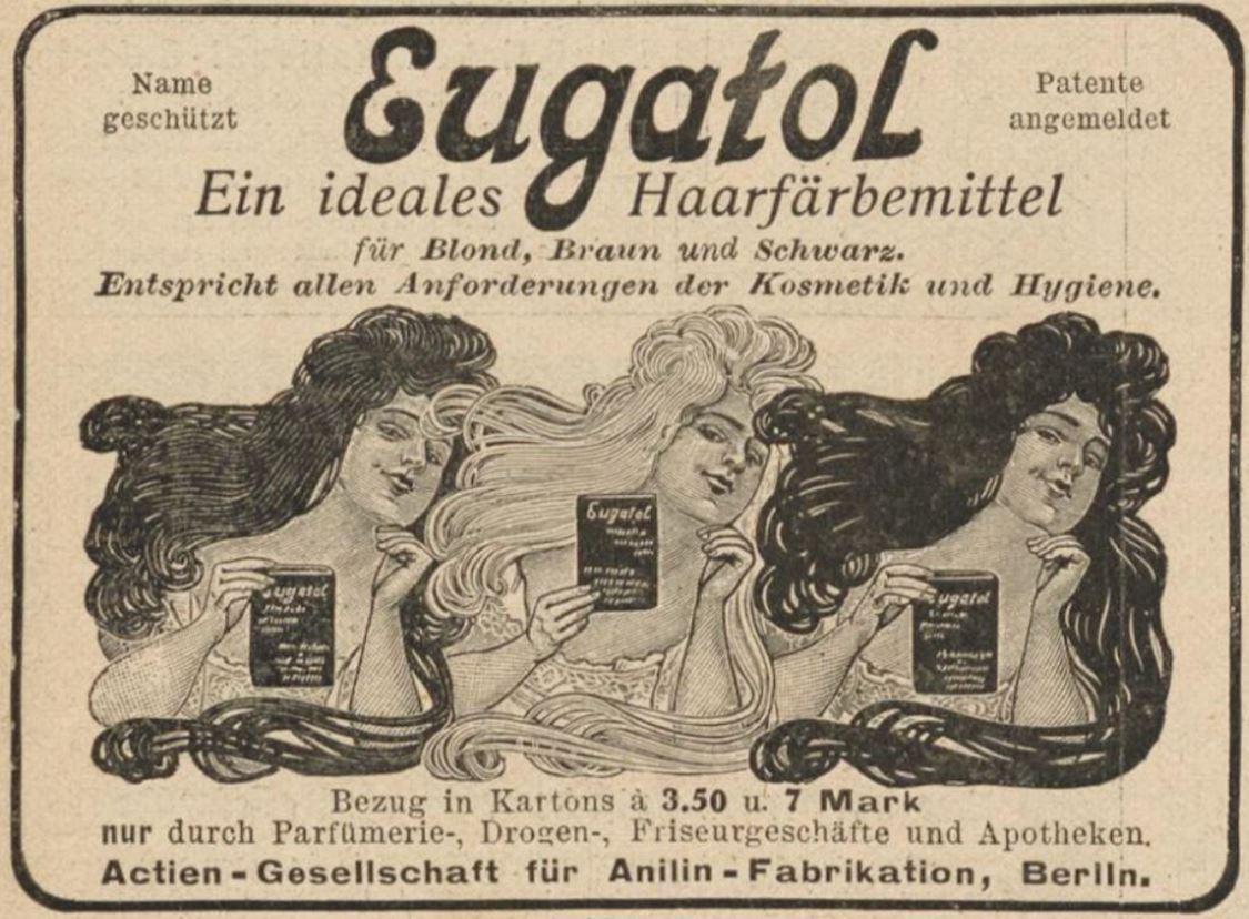 04_Lustige Blaetter_21_1906_Nr18_p22_Haarpflege_Haarfaerbemittel_Eugatol_Blond_Braun_Schwarz