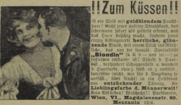 05_Das interessante Blatt24_1905_Nr49_12_07_p21_Haarpflege_Haarfaerbemittel_Blondin_Mann-Frau