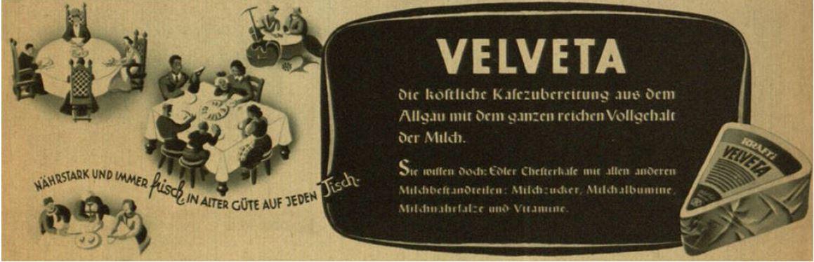05_NS Frauen-Warte_10_1941-42_p014_Kaese_Schmelzkaese_Velveta_Kraft_Vitamine