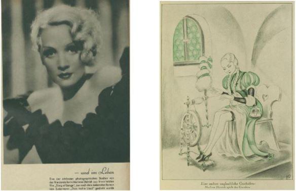 09_Revue des Monats_08_1933-34_Nr02_p115_Uhu_08_1931-32_Nr02_031_Filmschauspielerin_Marlene-Dietrich_Blondine