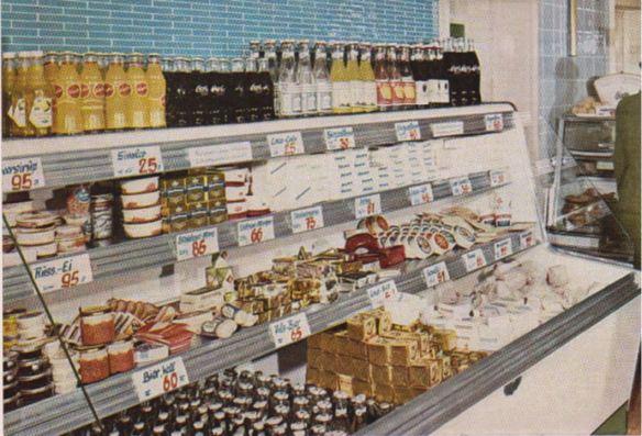 15_Ruhr_1960_sp_Kuehltheke_Selbstbedienung_Kaese_Margarine