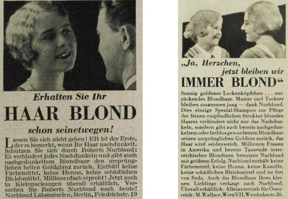 16_Das Magazin_07_1930-31_Nr81_p5979_Die Buehne_1932_H320_p34_Haarpflege_Haarshampoo_Nurblond_Mann-Frau_Mutter-Kind