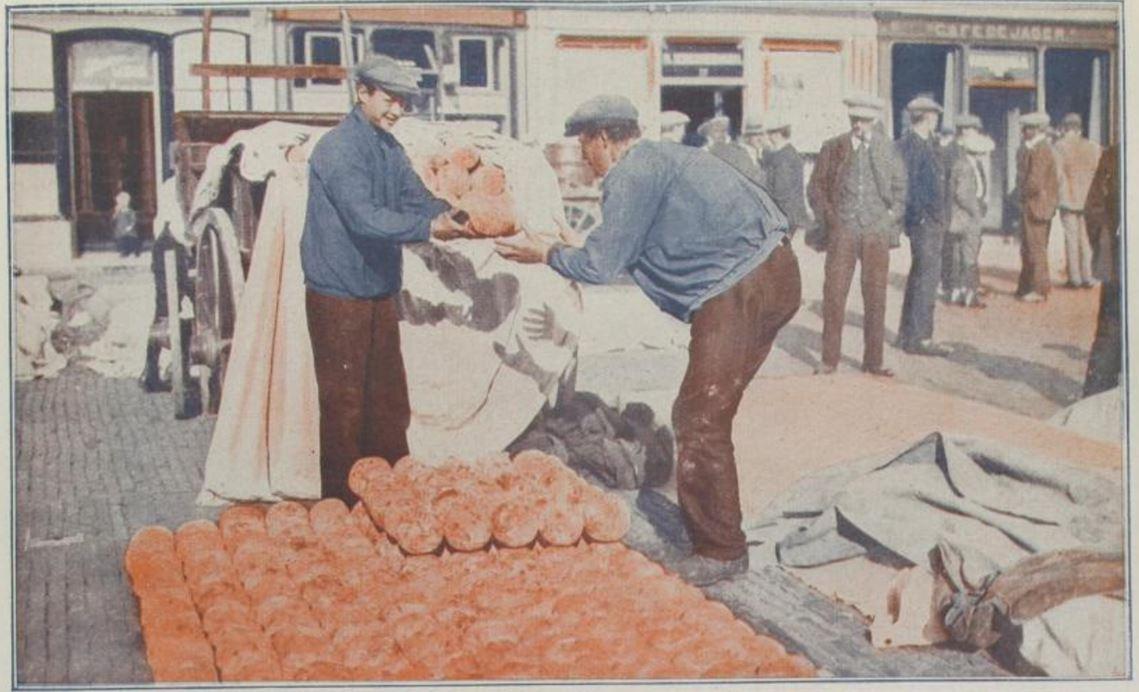 18_Das Magazin_04_1927-28_Nr43_p2011_Großhandel_Kaesemarkt_Gouda_Alkmaar