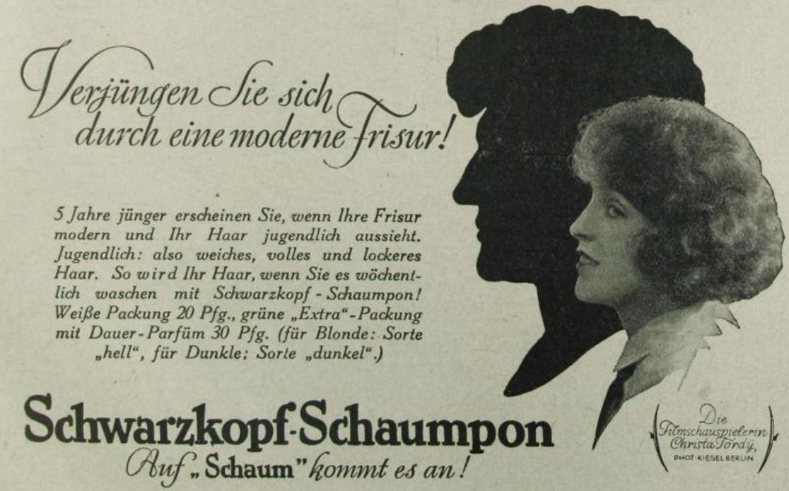 28_Das Leben_06_1928-29_H02_p103_Haarpflege_Haarshampoo_Schaumpon_Schwarzkopf_Christa-Tordy