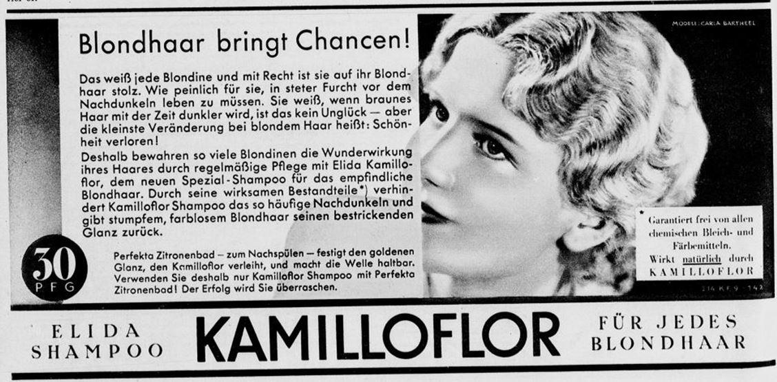 31_Der Welt-Spiegel_1932_08_21_p10_Haarpflege_Haarshampoo_Elida_Kamilloflor