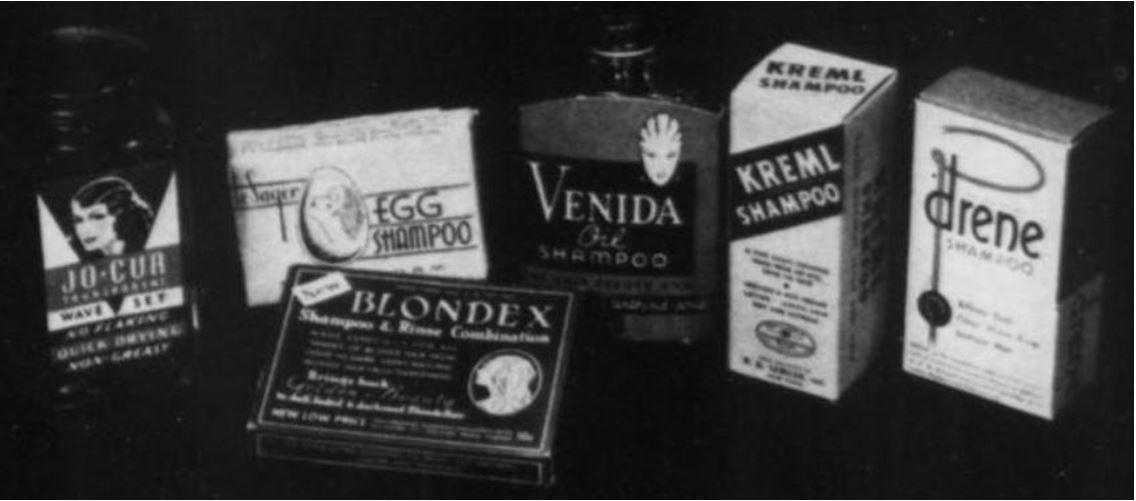 37_The American Perfumer_36_1938_Nr02_p39_Haarpflege_Haarshampoo_New-Blondex_Verpackung