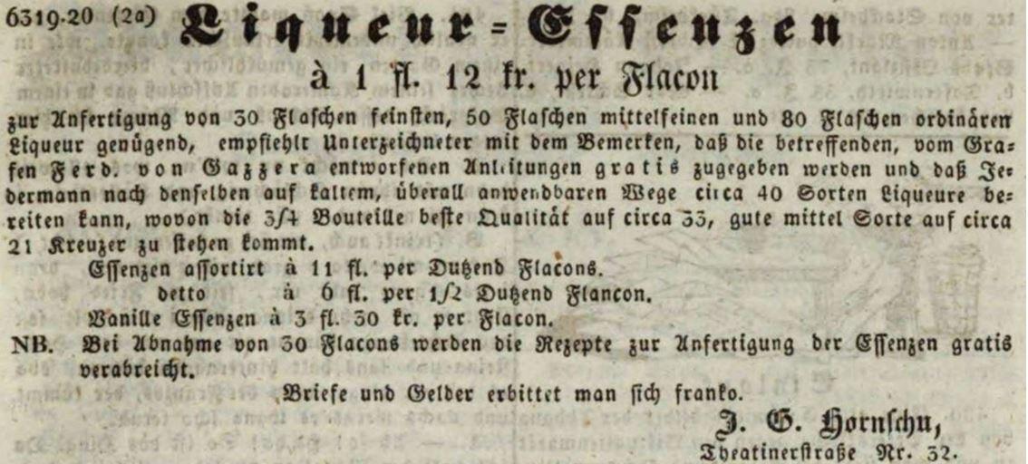 03_Muenchener Tagblatt_1846_09_17_Nr257_p2197_Essenzen_Spirituosen_Likoer_Hornschu