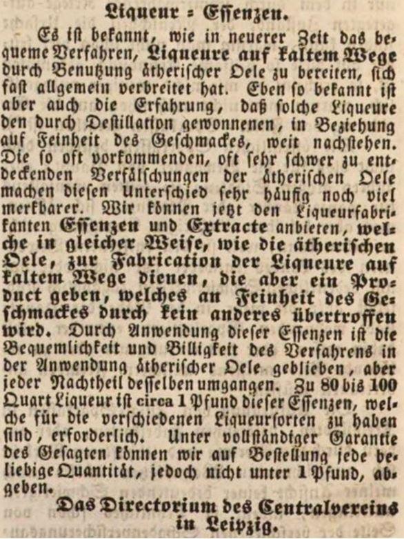 04_Allgemeiner Anzeiger und Nationalzeitung der Deutschen_1848_01_10_Nr009_Sp0116_Essenzen_Spirituosen_Likoer_Leipzig