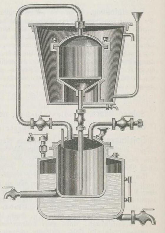 06_Geissler-Moeller_Hg_1890_Bd09_p380_Maschinenbau_Destillation_Extraktionsapparat_Brennerei