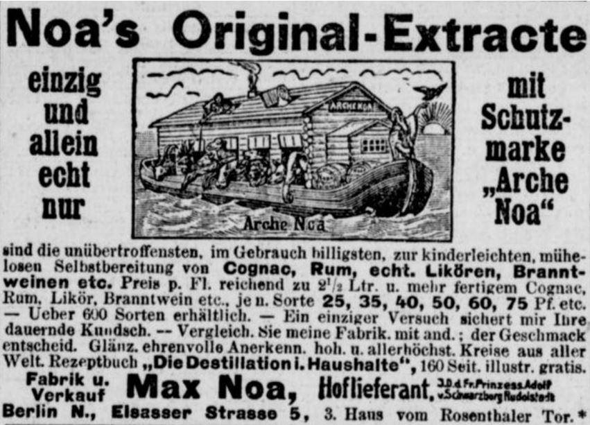 18_Berliner Volks-Zeitung_1905_02_07_Nr063_p08_Max-Noa_Essenzen_Spirituosen_Selbstbereitung_DIY_Berlin_Werbebroschuere_Arche-Noa