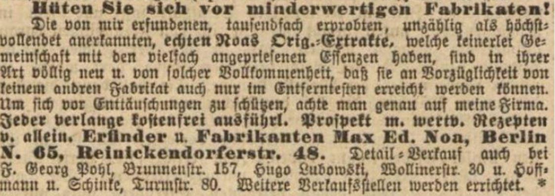 25_Vorwaerts_1900_11_11_Nr264_p18_Max-Noa_Essenzen_Spirituosen_Plagiate_Otto-Reichel