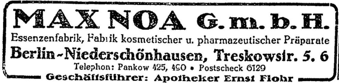 40_Berliner Adreßbuch_1924_T1_p2154_Max-Noa-GmbH_Ernst-Flohr_Niederschönhausen