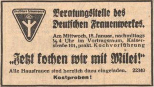 07_Der Fuehrer_1939_01_15_p08_Milei_Deutsches-Frauenwerk_Kochvorfuehrung_Haushaltsberatung