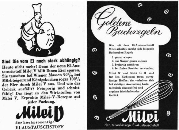 08_Mehl und Brot_42_1942_p345_Ebd_p187_Milei_Austauschstoff_Eier