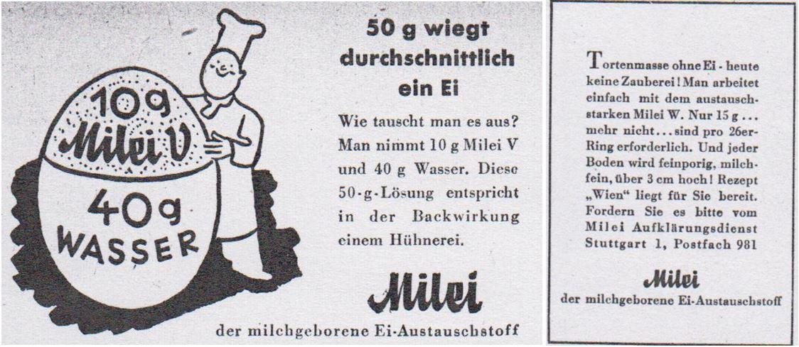09_Mehl und Brot_43_1943_p419_ebd_44_1944_p239_Milei_Austauschstoff_Eier