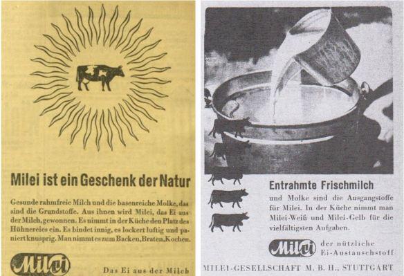 12_Kleine Volks-Zeitung_1941_05_12_Nr131_p08_Der deutsche Volkswirt_16_1942_p529_Milei_Austauschstoff_Eier_Natur_Milch