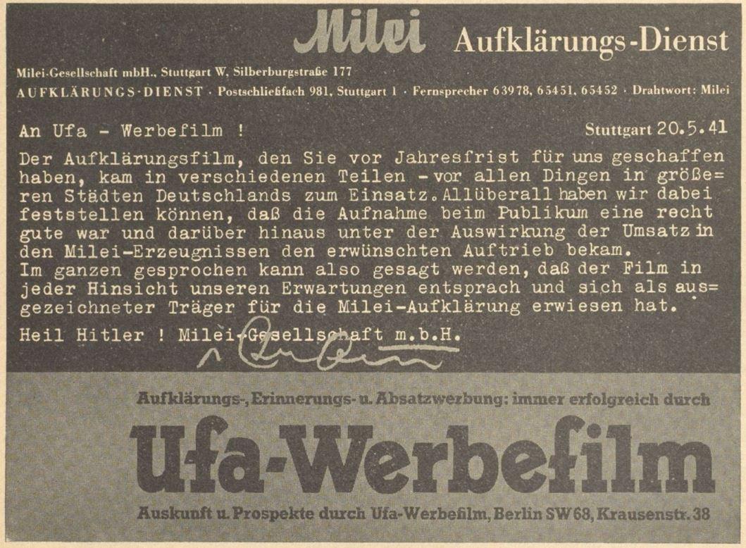 13_Werben und Verkaufen_25_1941_p239_Milei_Werbung_Filmwerbung_Ufa