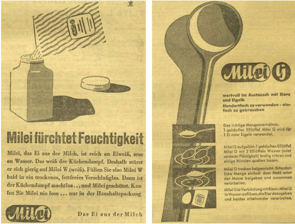 15_Kleine Volks-Zeitung_1941_06_09_Nr158_p07_ebd_03_12_Nr071_p12_Milei_Austauschstoff_Eier