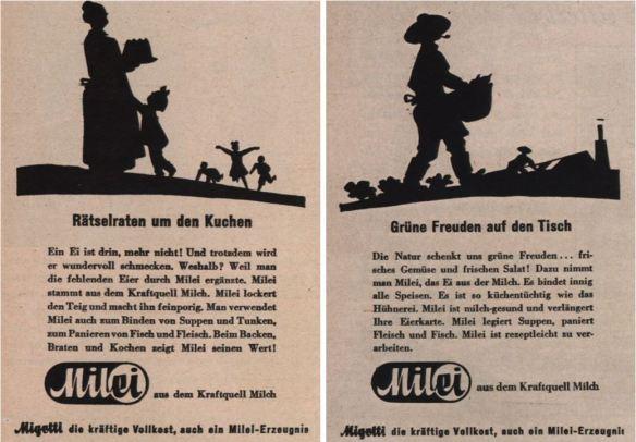 16_Wiener Modenzeitung_1942_H161_p23_ebd_H157_p23_Milei_Austauschstoff_Eier