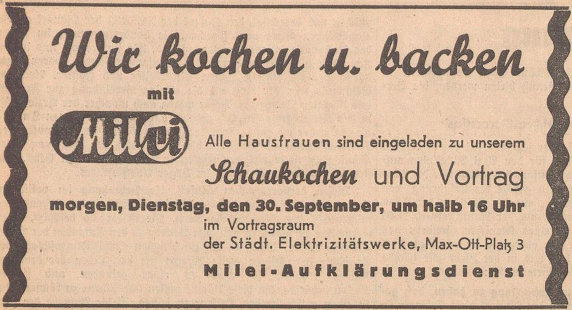 17_Salzburger Volksblatt_1941_09_29_Nr220_p6_Milei_Hauswirtschaftslehre_Schaukochen