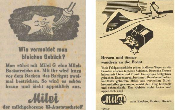 24_Oberdonau-Zeitung_1943_06_30_Nr178_p6_Wiener Illustrierte_1941_12_17_Nr51_p12_Milei_Austauschstoff_Eier_Gebäck_Backen