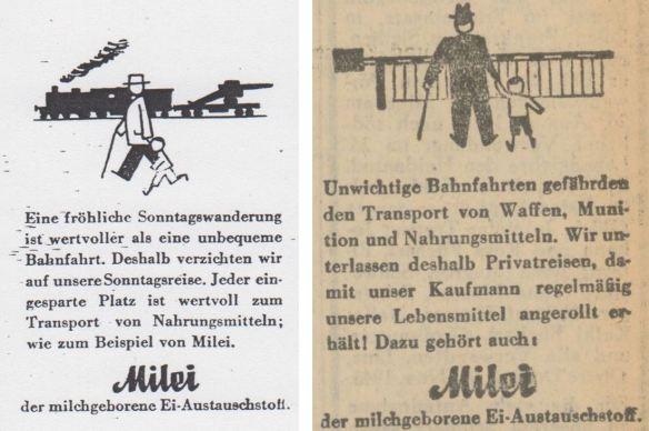 30_Nationalsozialistischer Volksdienst_10_1943_H08_pII_Oberdonau-Zeitung_1944_11_13_Nr314_p5_Milei_Lebensmittelversorgung_Eisenbahn_Reisen_Versorgungsprobleme