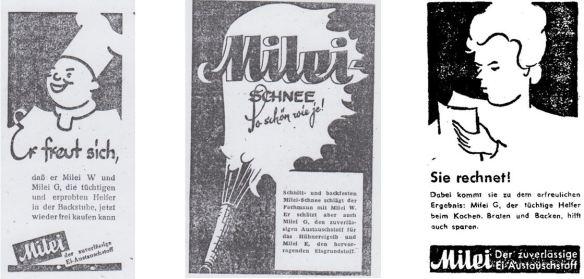 34_Baecker-Zeitung fuer Nord- und West-Deutschland_2_1948_Nr33_p08_ebd_Nr37_p14_Der Spiegel_1948_11_06_16_Milei_Austauschstoff_Eier