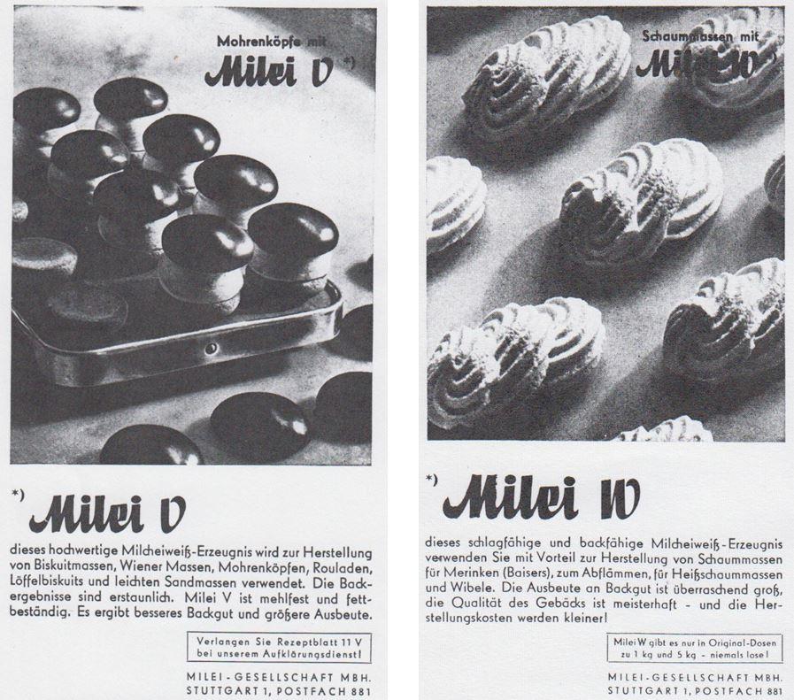 37_Die Küche_53_1949_Nr01_pIV_ebd_Nr02_pII_Milei_Austauschstoff_Eier_Baiser_Mohrenkopf