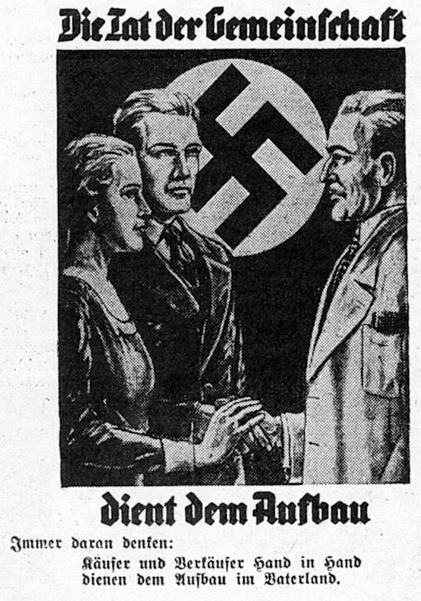 01_Deutsche Handels-Rundschau_27_1934_p182_Einzelhandel_Käufer-Verkäufer_Einzelhändler_Gemeinschaft