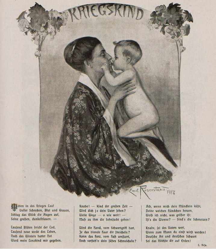 01_Fliegende Blaetter_146_1917_p225_Kleinkind_Mutter-Kind_Kriegskind_Gedicht