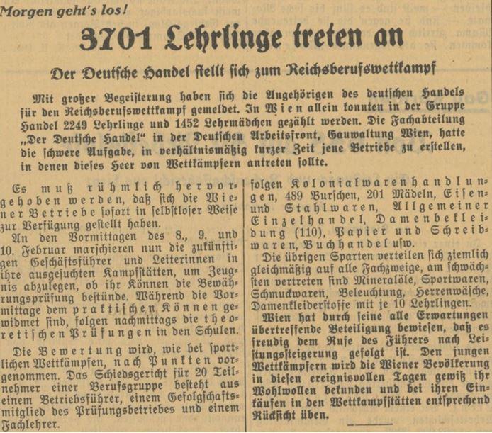 04_Voelkischer Beobachter_1939_02_07_Nr266_p12_Einzelhandel_Ausbildung_Lehre_Reichsberufswettkampf_Wien